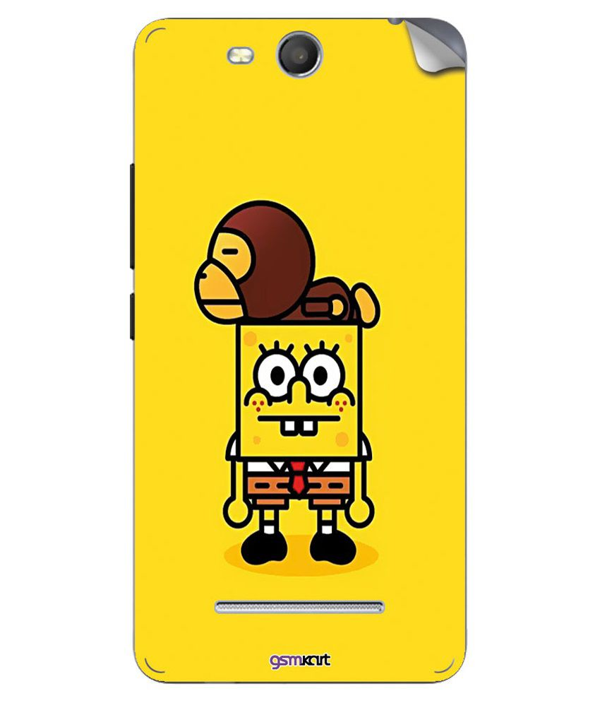 Gsmkart Mobile Sticker For Micromax Canvas Juice 3-Yellow