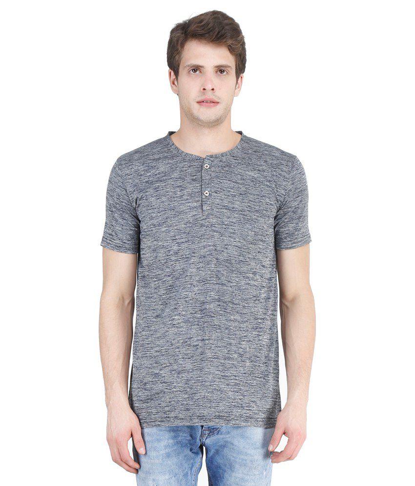 New Fashion Grey Henley T Shirts
