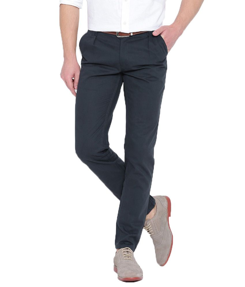 Hubberholme Navy Slim Fit Chinos