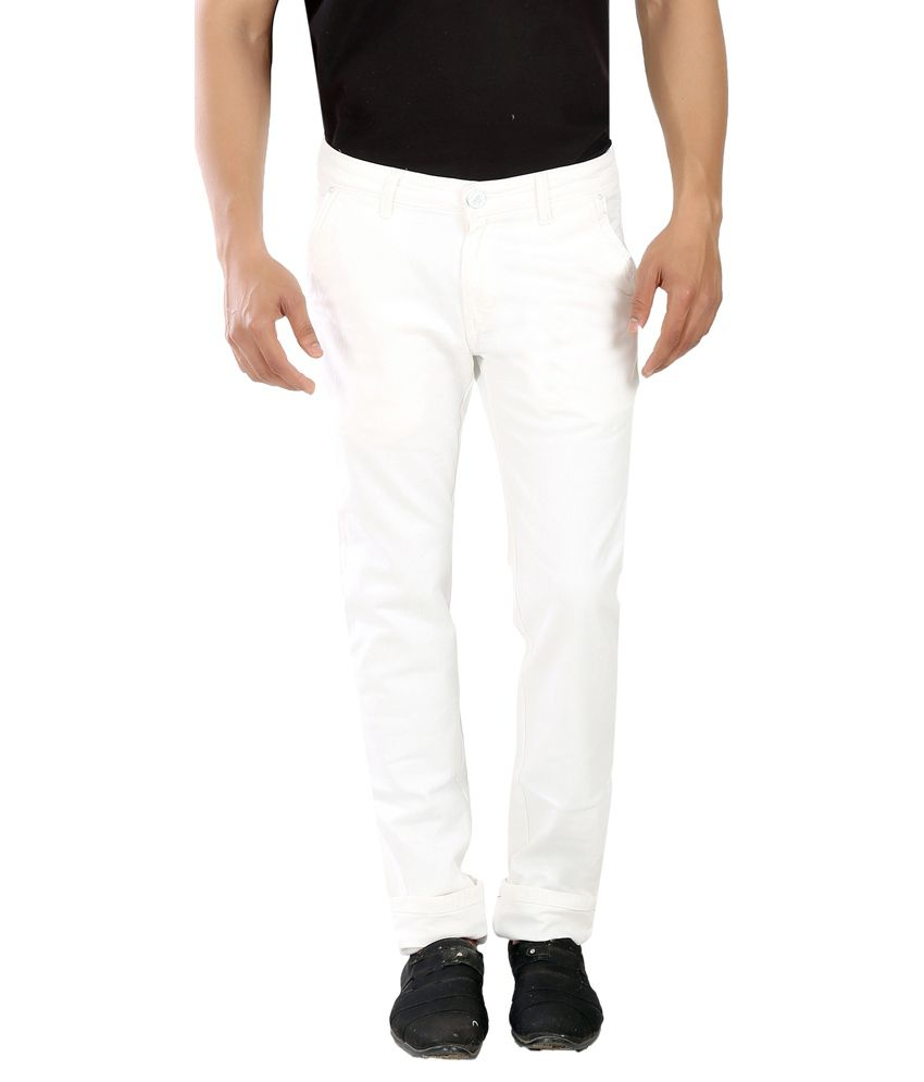 Scotlane White Slim Fit Jeans