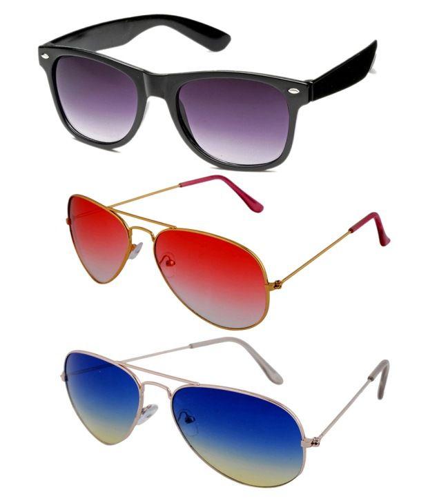 Shoaga Purple Oval Sunglasses