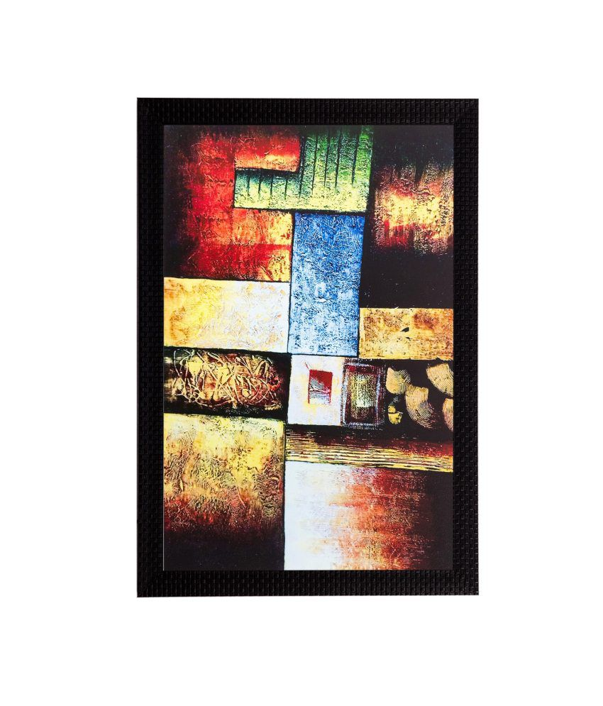 eCraftIndia Abstract Matt Textured Framed UV Art Print
