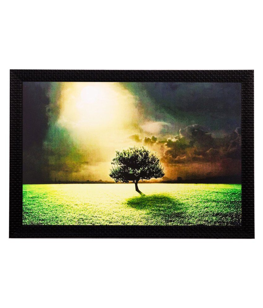 eCraftIndia Garden View in Sunlight Matt Textured Framed UV Art Print
