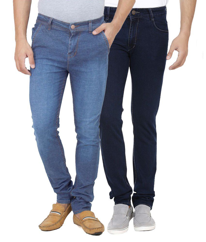 Ansh Fashion Wear Blue Regular Fit Faded Jeans