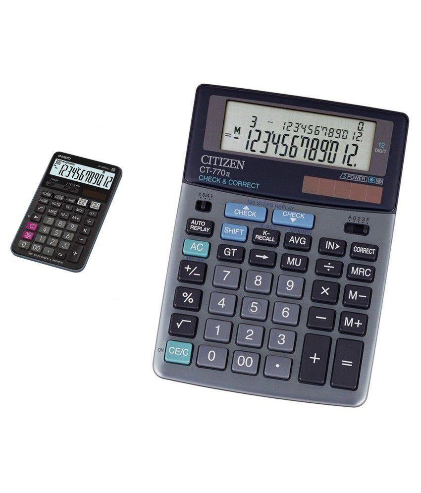 Casio Combo Of Jj 120d Plus Check Recheck Calculator Citizen Ct 770ii 12 Digits Desktop