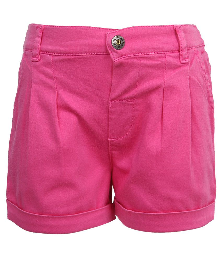 FS MiniKlub Pink Cotton Shorts