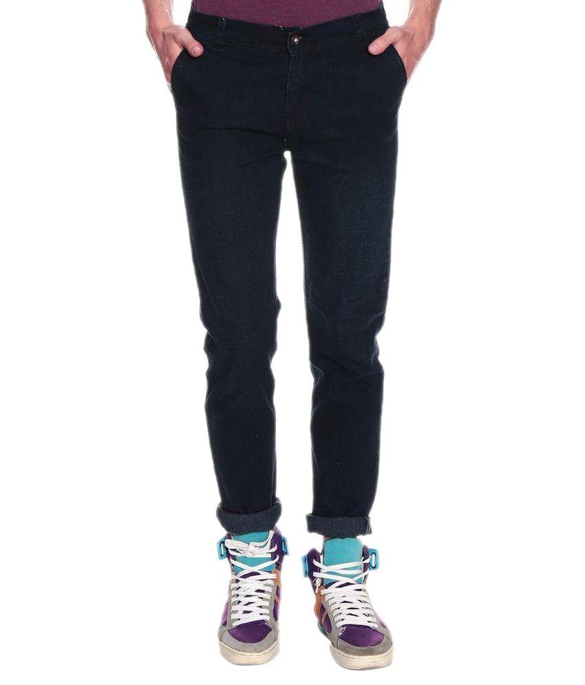 Fashion Deck Black Slim Fit Faded Jeans