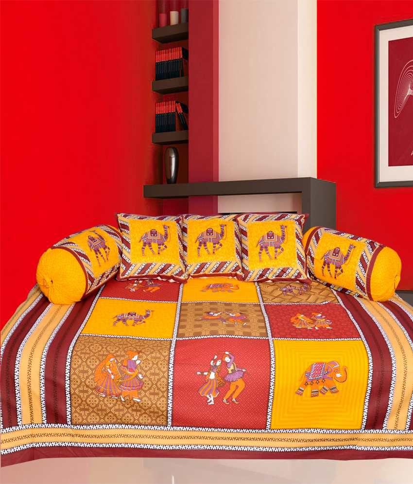 Mable Multicolour Printed Cotton Diwan Set