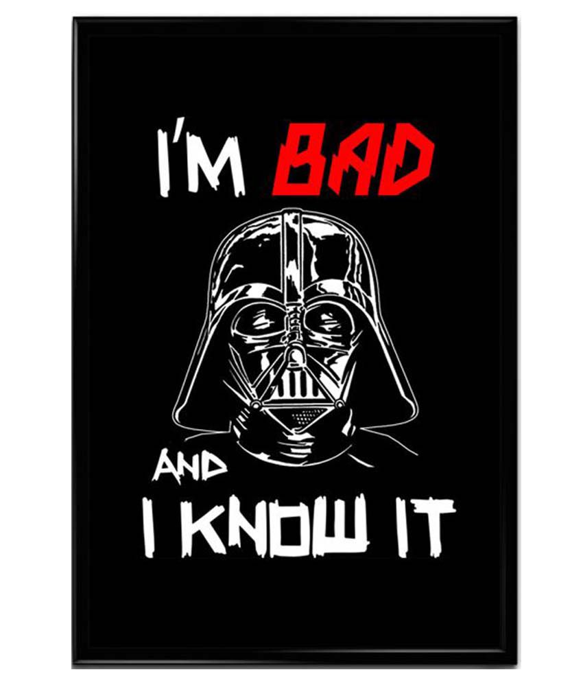 ownclique im bad and i know it matte poster: buy ownclique im bad