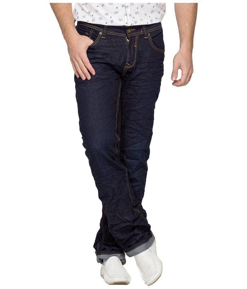 spykar Blue Slim Fit Faded Jeans