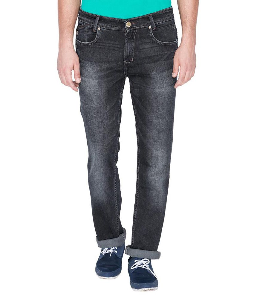 Mufti Black Regular Fit Jeans