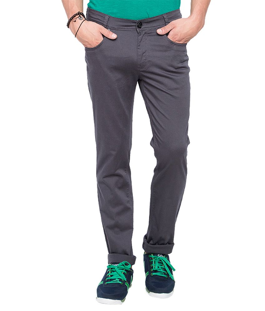 Mufti Grey Slim Fit Trousers
