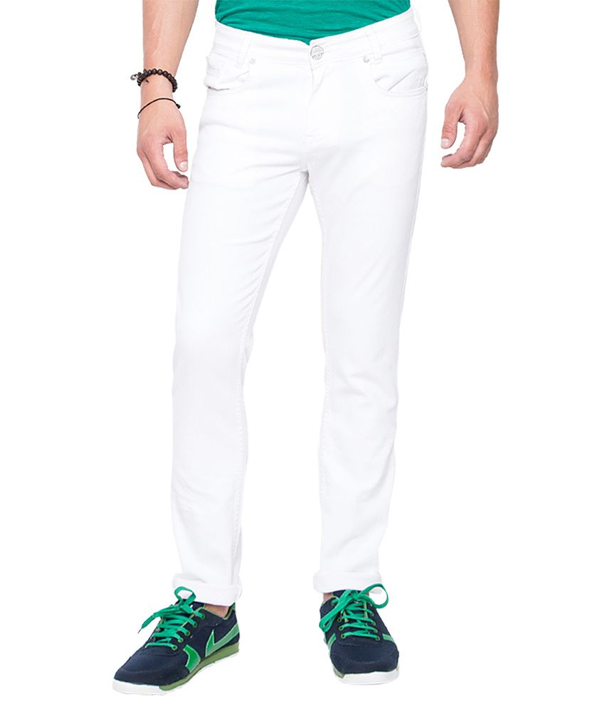Mufti White Slim Fit Jeans