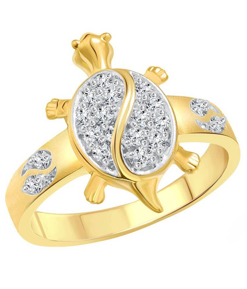 Vighnaharta Gold and Rhodium Plated Ring