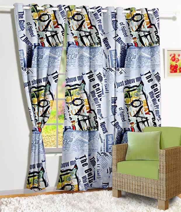 Story@Home Single Window Eyelet Curtain Contemporary