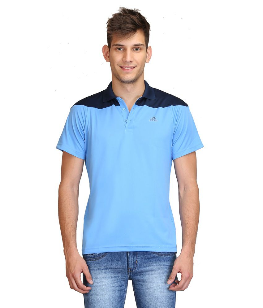 Adidas Blue Polo T Shirts