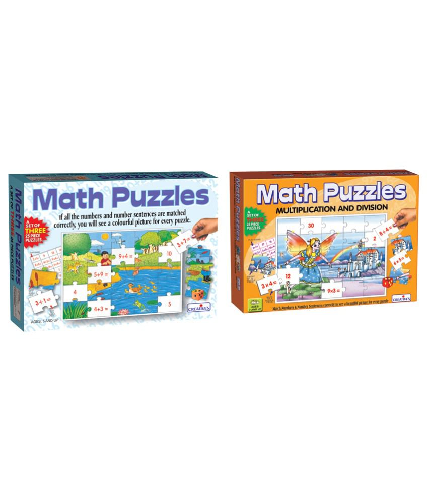 Creatives Creative's Math Puzzle Part I and Part II Educational Game Combo