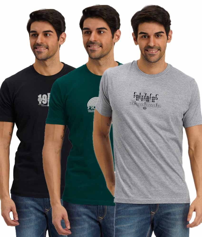 Fritzberg Multi Round T Shirts Pack Of 3