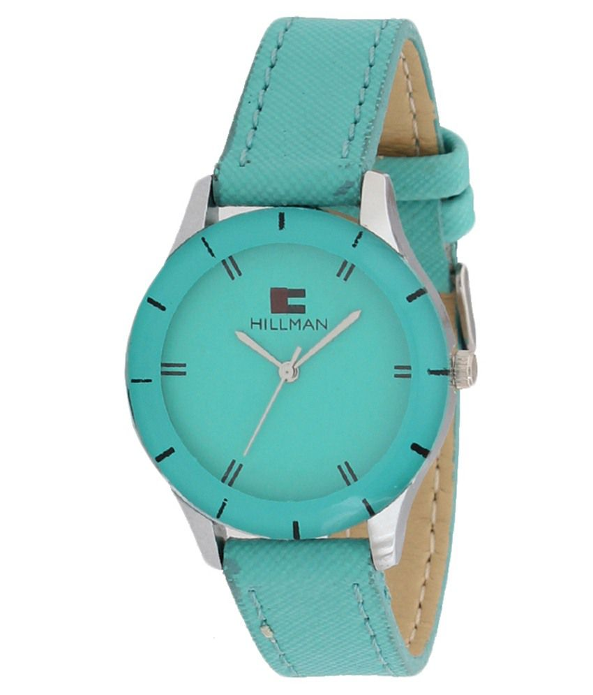 Hillman Green Leather Wrist Watch For Women