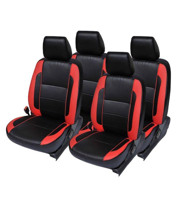 musicar black leather car seat cover for tata indigo ecs set of 4 rh snapdeal com