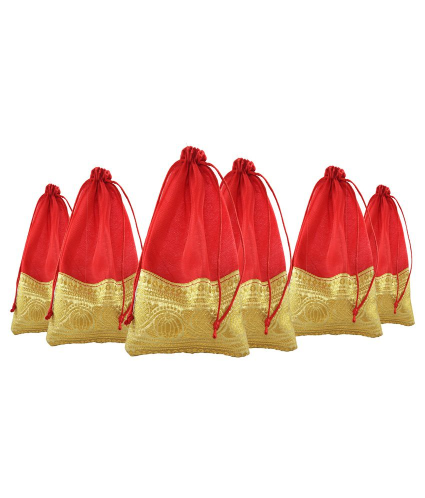 Nivira Designs Red Fabric Clutch