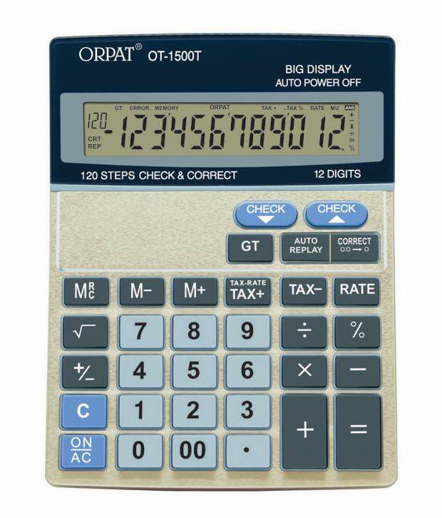Orpat OT-1500T Check & Correct  Calculator