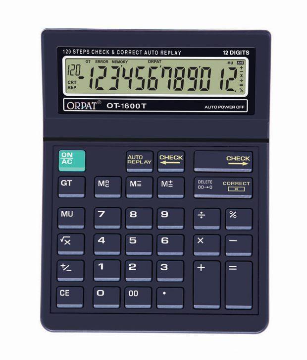 Orpat OT-1600T Check & Correct  Calculator