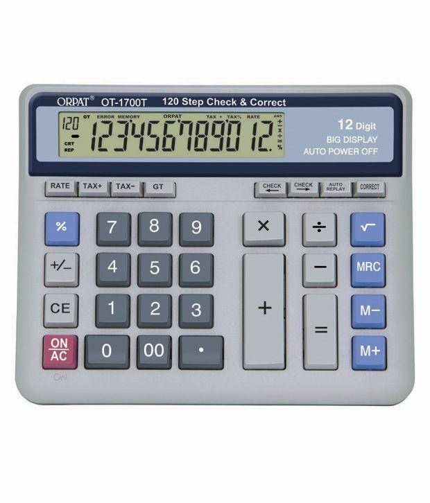 Orpat OT-1700T Check & Correct  Calculator