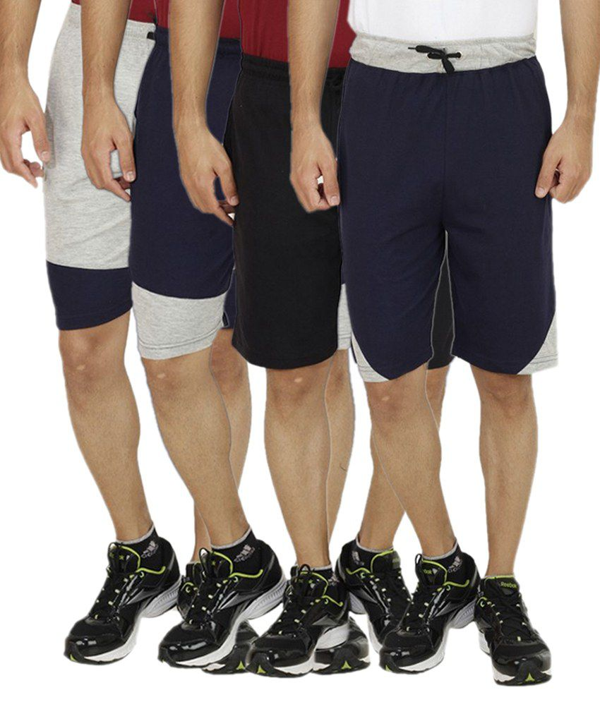 Christy Collection Multi Shorts Pack of 4