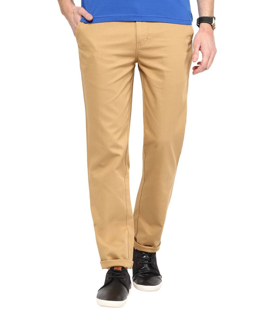 Cobb Khaki Slim Fit Chinos