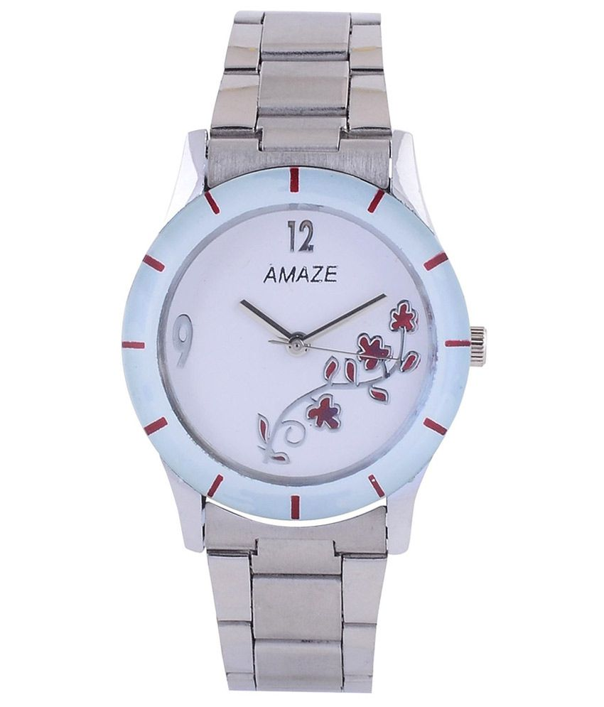 Amaze Silver Metal Analog Watch for Women