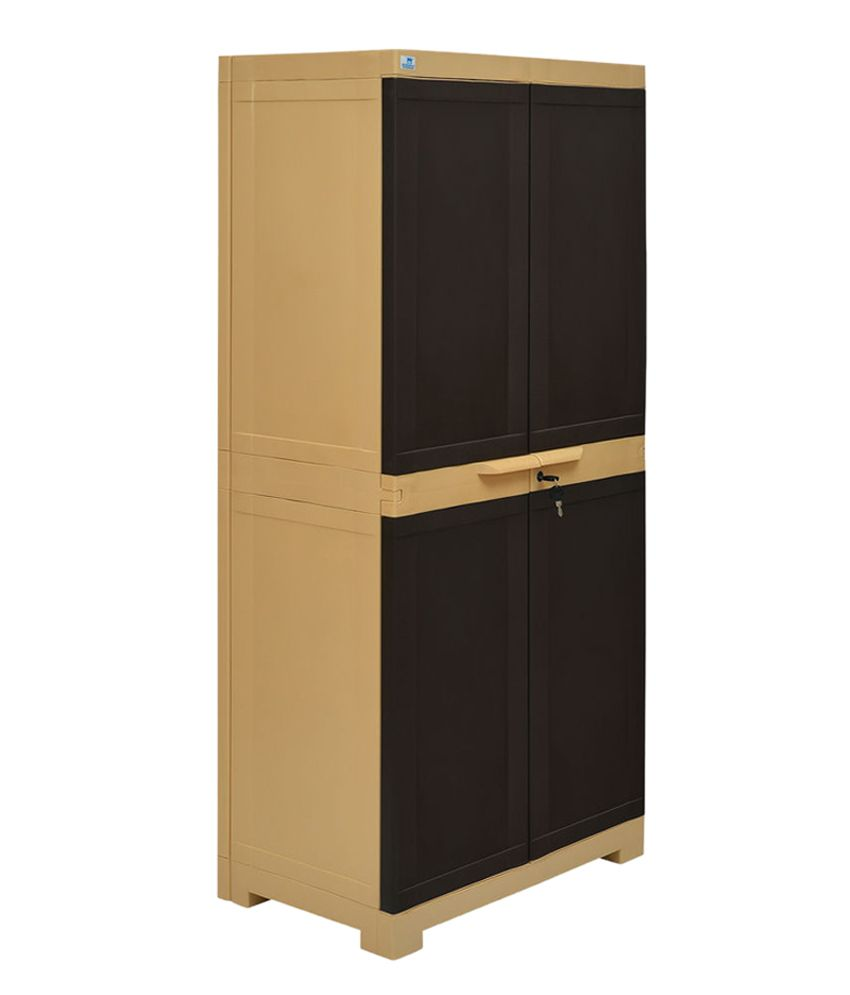 Nilkamal Kitchen Furniture Nilkamal Freedom 2 Door Large Cabinet Brown Buy Nilkamal