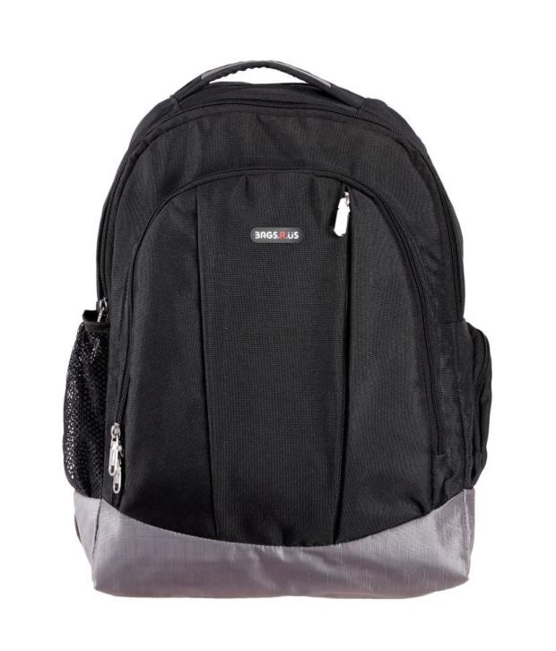 BagsRus Black Polyester Laptop Backpack