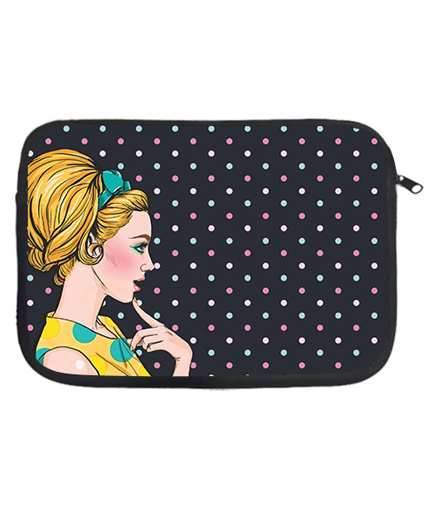 Design Worlds Polyester Pretty Girl 15 Inch Laptop Sleeve - Multicolor