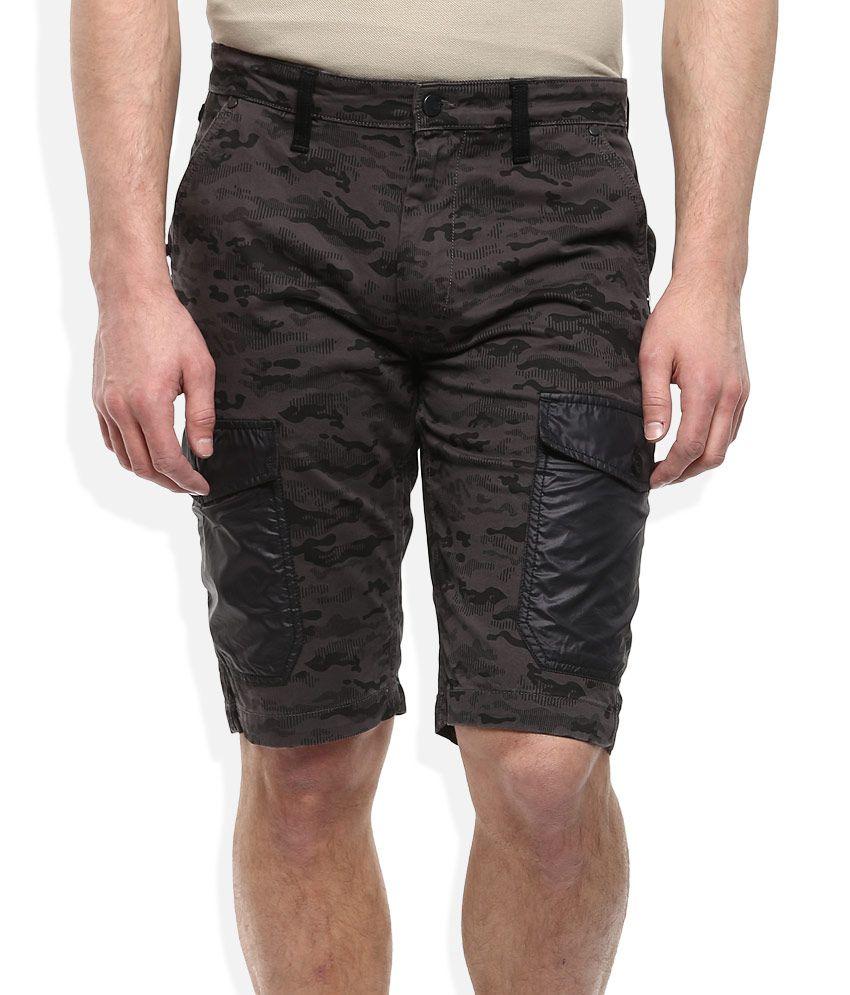 Lee Gray Printed Shorts