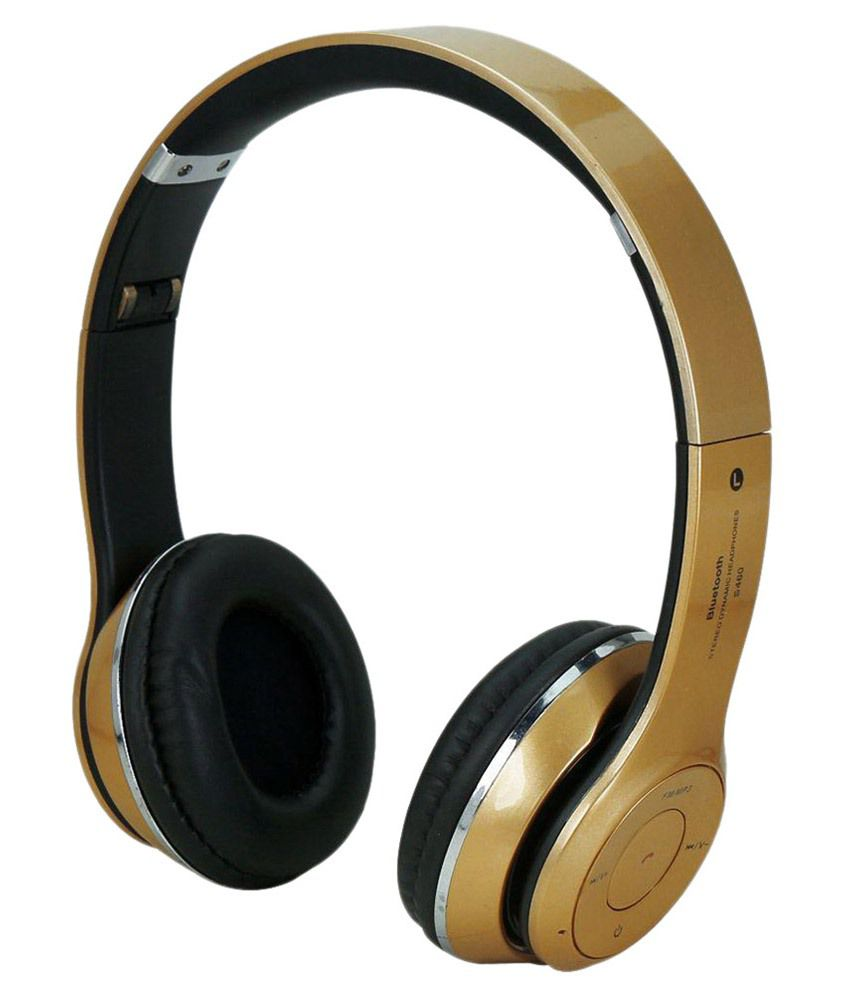 11fb0c1d045 Buy ACID EYE Wireless Bluetooth Headphone Golden Online at Best Price in  India - Snapdeal