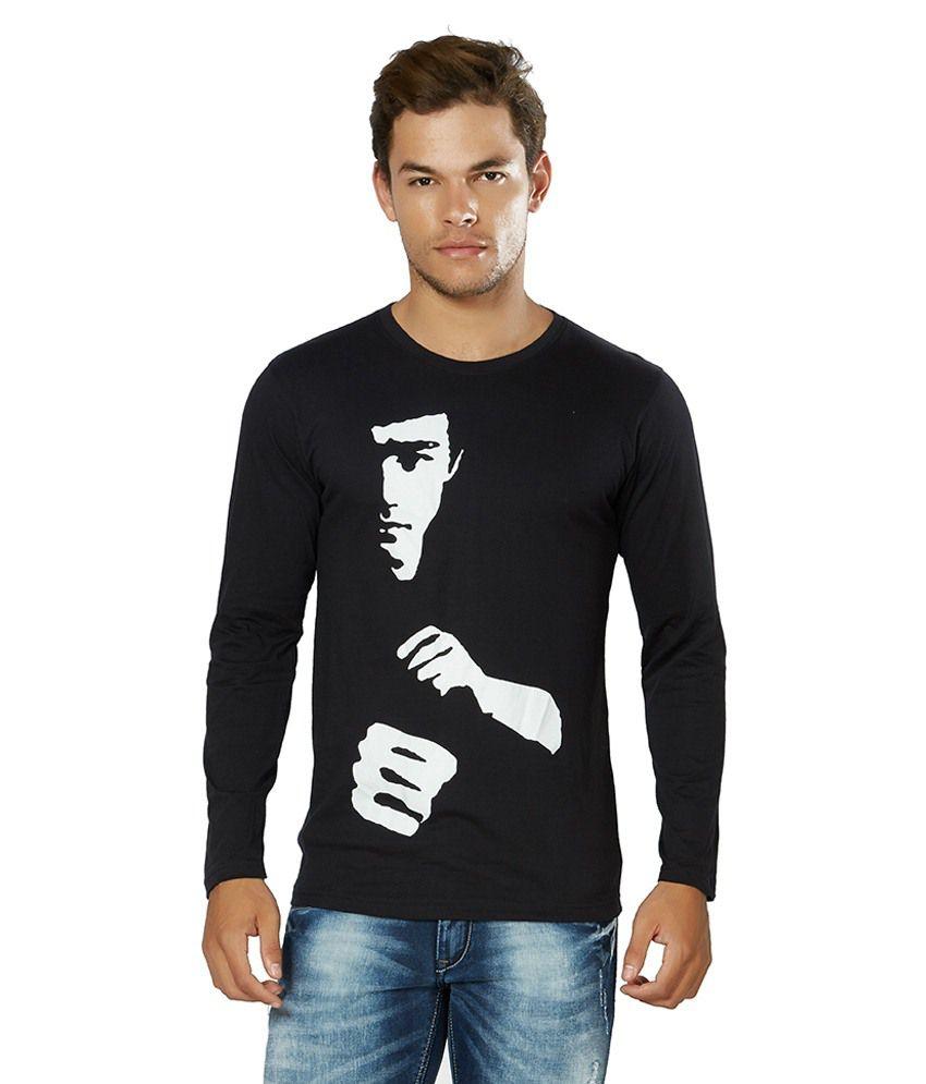 Alan Jones Clothing Black Round T Shirts