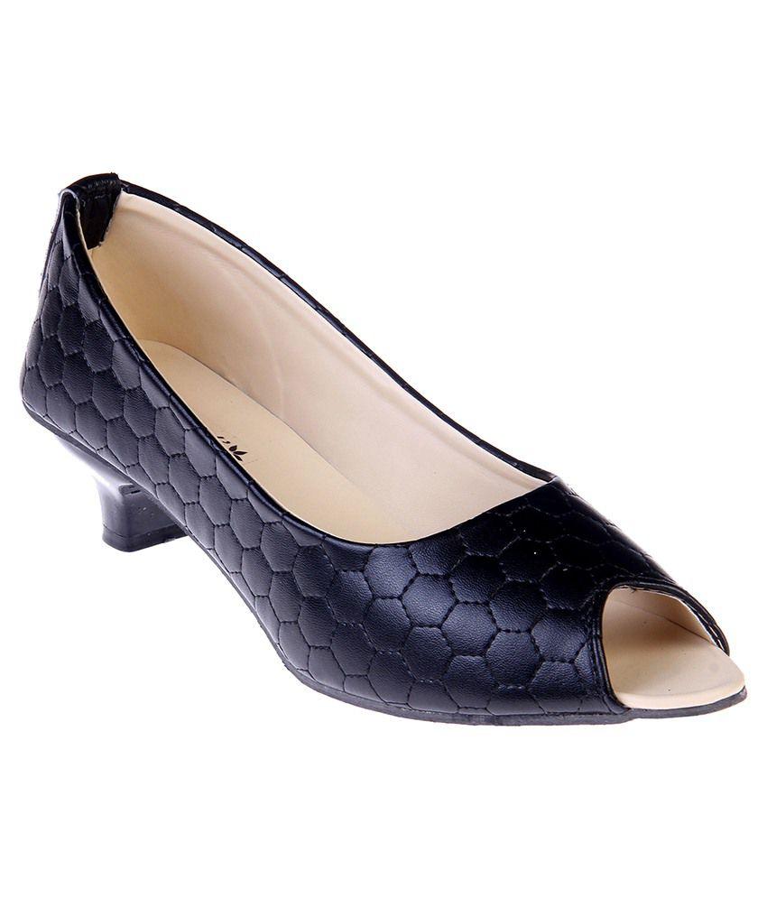 Goyals Black Kitten Heels