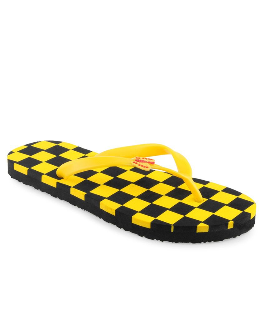 Shoe Lab Yellow Slippers
