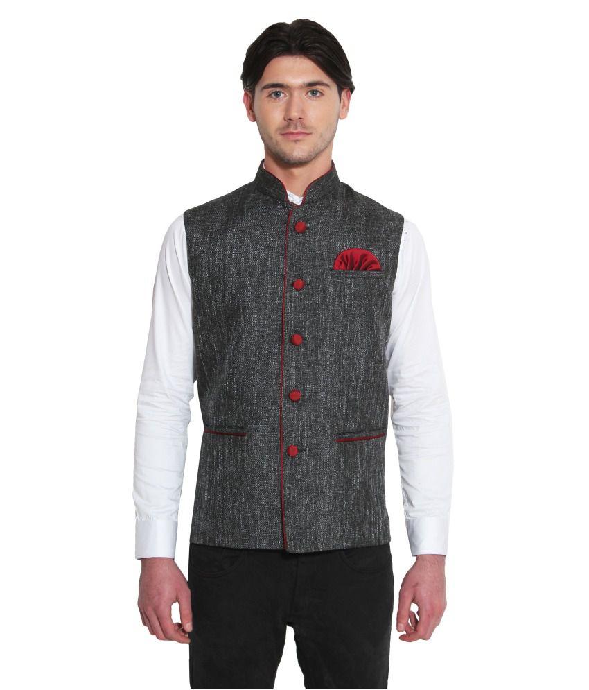Favoroski Black festive Waistcoats