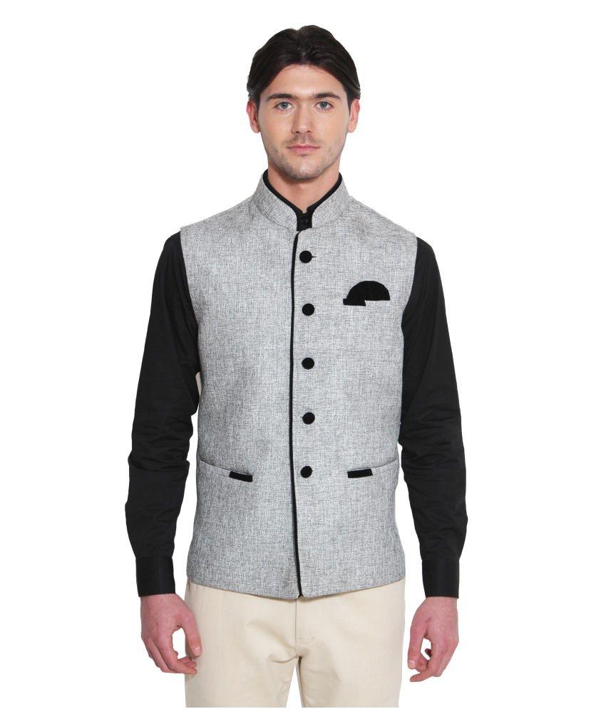 Favoroski Grey festive Waistcoats