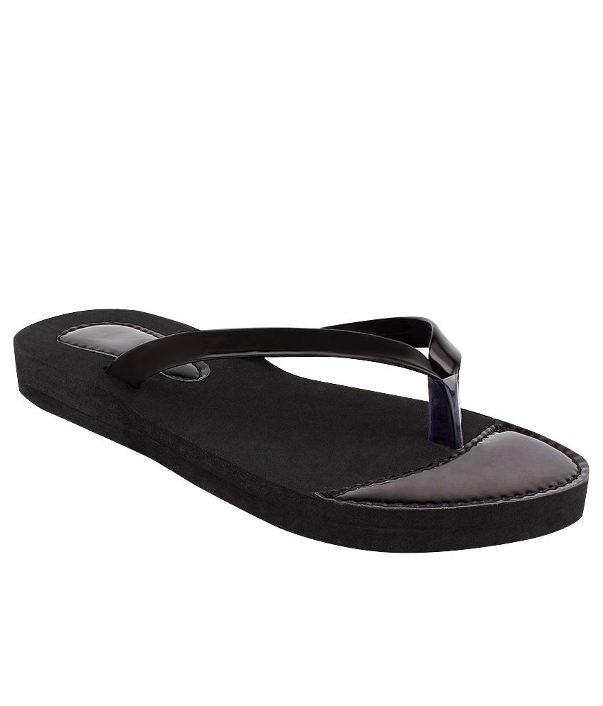 Fashion Victory Black Slippers & Flip Flops