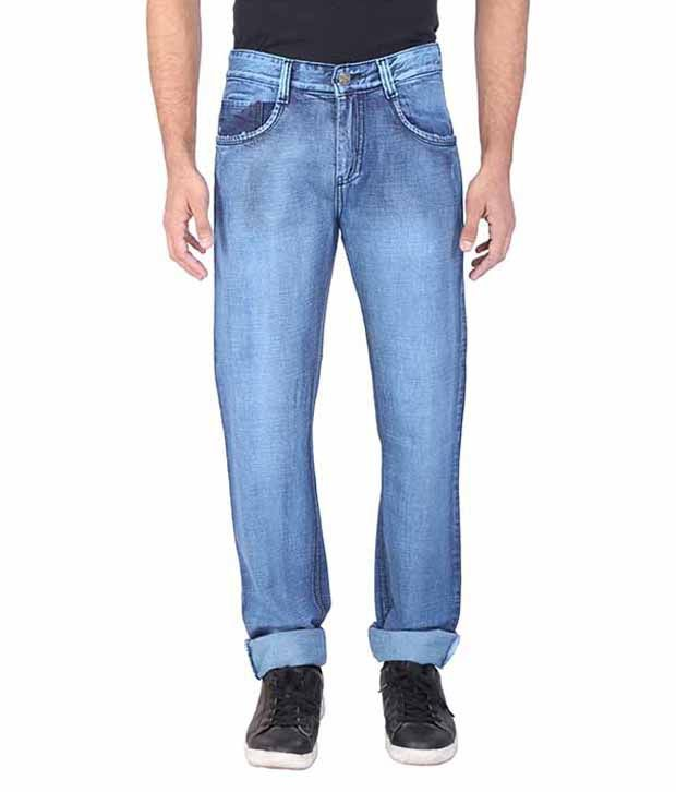 Wineglass Blue Regular Fit Jeans