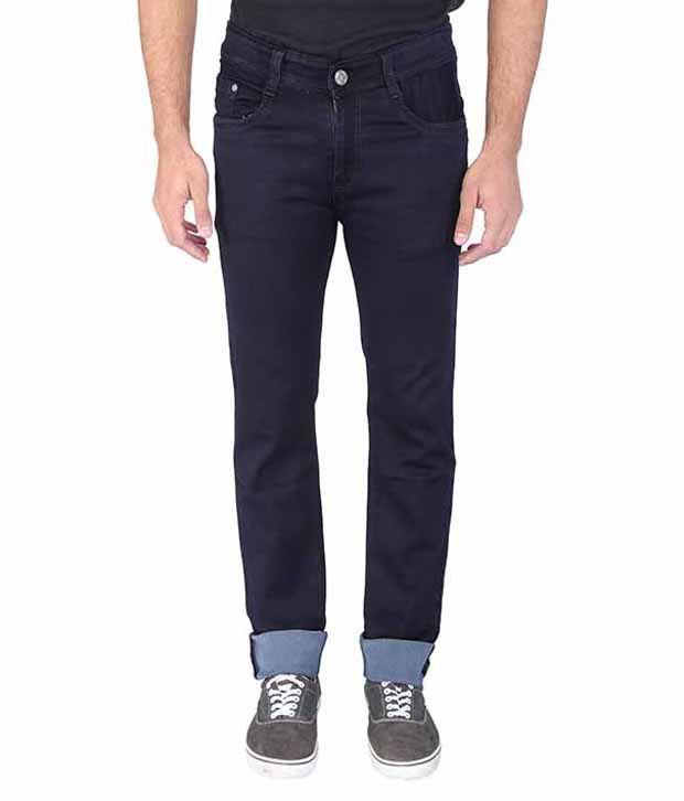 Wineglass Blue Regular Fit Jeans