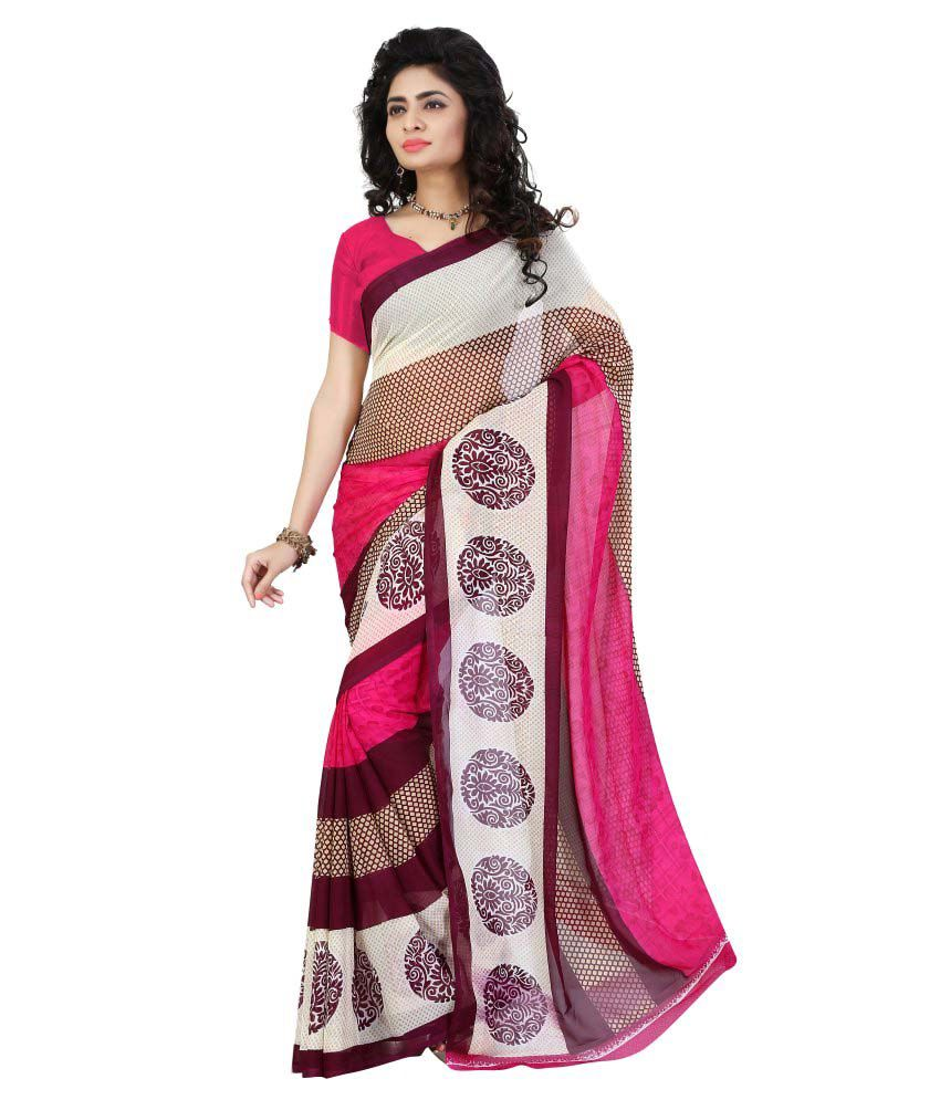7 Brothers Multicoloured Georgette Saree