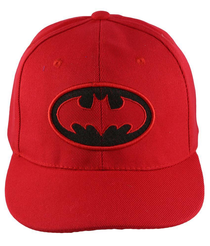 Air Fashion Red Cotton Hiphop Cap For Men