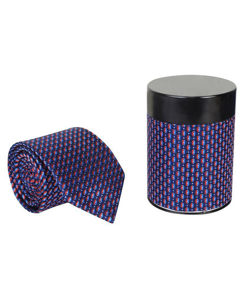 Clareo Blue Micro Fiber Formal Broad Tie