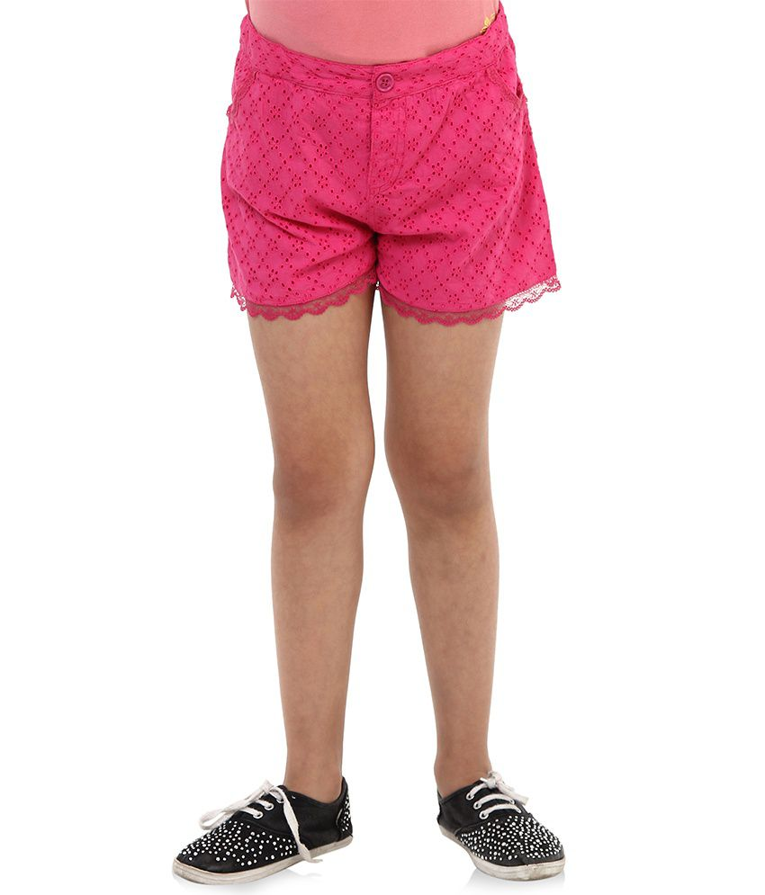 Oxolloxo Pink Cotton Shorts