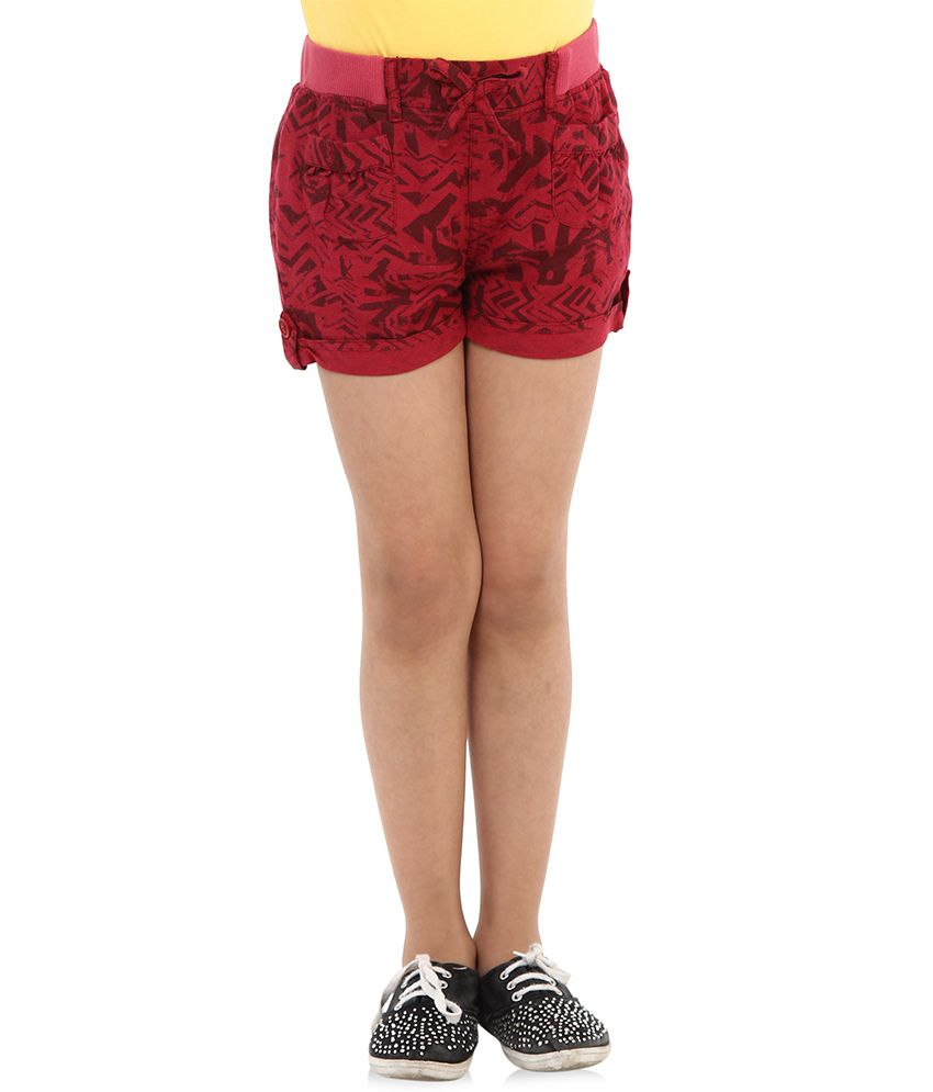 Oxolloxo Red Viscose Shorts