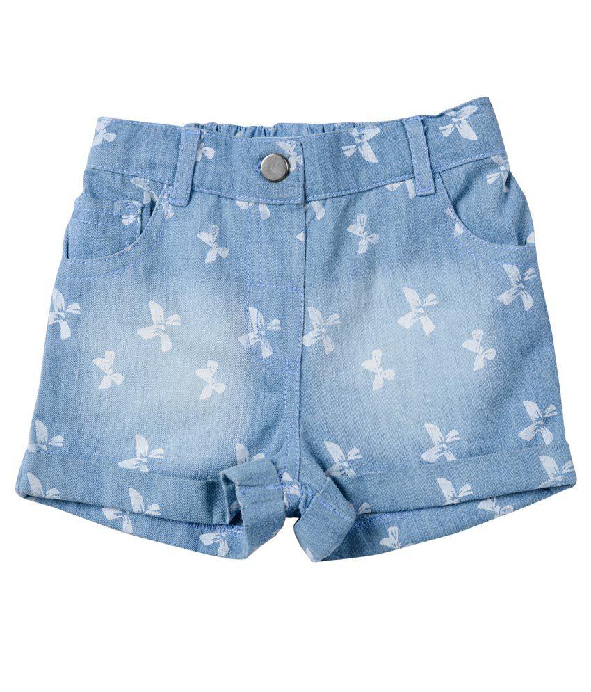 Nauti Nati Blue Cotton Shorts